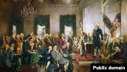 """Slika Howard Chandlera Christyja """"Potpisivanje Ustava SAD"""""""