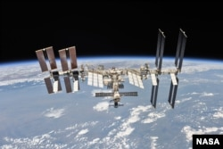 The International Space Station photographed on Oct. 4, 2018 by Expedition 56 crew members from a Soyuz spacecraft after undocking. (Photo courtesy of NASA)