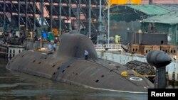 (Ảnh tư liệu) Tàu ngầm INS Arihant của Hải quân Ấn Độ tại nhà kho của hải quân ở thành phố Visakhapatnam ở miền nam.