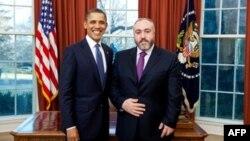 Барак Обама и Темур Якобашвили