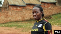 18- year-old Zaituni Uzamukunda runs a program to get girls into school using soccer, February 15, 2013. (Hilary Heuler / VOA News)