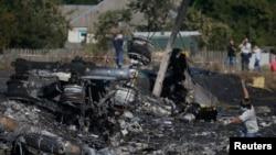 Mesto pada malezijskog aviona na letu MH-17, u blizini mesta Hrabove u Donjeckoj oblasti