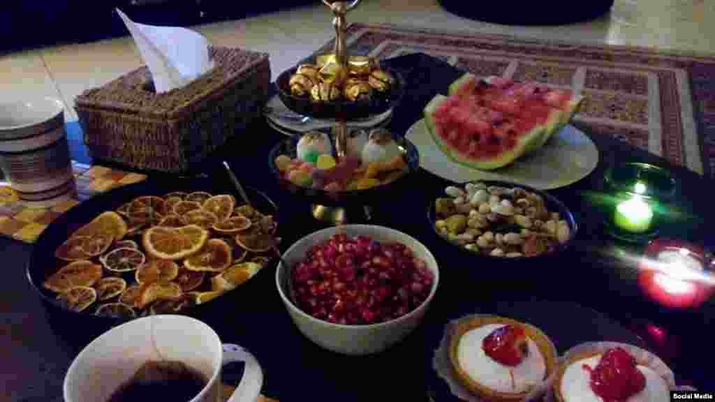 سفره شب یلدا - عکس ارسالی از سونیا