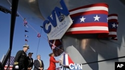 Krštenje novog nosača aviona USS Džerald Ford u saveznoj državi Virdžiniji