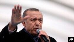 Le président turc Recep Tayyip Erdogan donne un discours à Istanbul, le 20 décembre 2016.