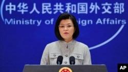 中国外交部发言人姜瑜3月22日在记者会上