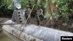Narco-submarino similar al encontrado a la deriva en el Pacífico colombiano