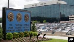 FILE - The National Security Administration campus in Fort Meade, Maryland, where the U.S. Cyber Command is located. The U.S. military has launched a newly aggressive campaign of cyberattacks against Islamic State militants.