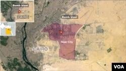 Bomb blast in Cairo's Nasr City.