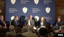 新美国安全中心举办研讨会讨论如何在充满竞争的世界秩序中扩展美国的实力。(美国之音乔栈拍摄)