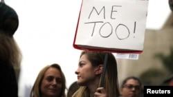 Des manifestantes de la campagne #Metoo dénonçant le harcèlement sexuel.