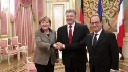 مرکل و اولاند برای گفتگو درباره طرح صلح اوکراین به مسکو رفتند