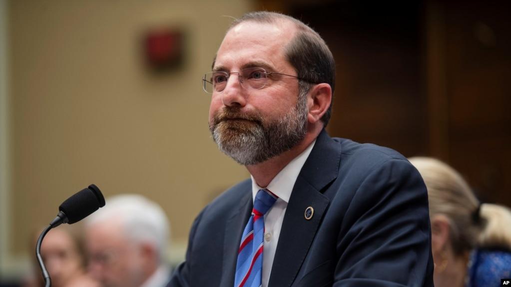美国卫生与公众服务部部长阿扎尔(Alex Azar)2月26日在众议院就新冠病毒疫情和公共卫生经费问题作证。