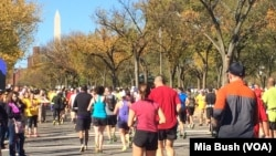 资料照:2014年在华盛顿举行的海军陆战队马拉松赛。