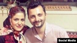 علی شریعتی در کنار همسرش