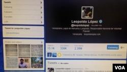 Lilian Tintori, esposa de leopoldo López ingresó a la cuenta de su esposo, quien está preso y transmitió los mensaje y pidió que sean reenviados.