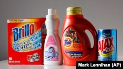 Cleaning products Brillo, Woolite, Tide and Ajax are arranged for a photo, Thursday, Feb. 4, 2010 in New York.