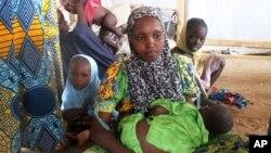 Une famille ayant fui Boko Haram, dans le camp de réfugiés de Minawao, au Cameroun.