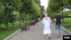 莫斯科的一家公园,中国未来将取代中亚向俄罗斯贡献移民。(美国之音白桦拍摄)