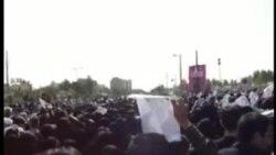 شعارهای ضد حکومتی در تشییع پیکر آیت الله طاهری