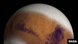 NASA image of what Mars looked like at its Ice Age Maximum.
