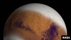 NASA'nın buzul çağı geçiren Mars'la ilgili tahmini çizimi