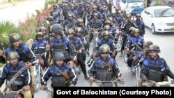 نئی تشکیل شدہ سیکیورٹی فورس کا کوئٹہ میں مارچ، 2 مئی 2018