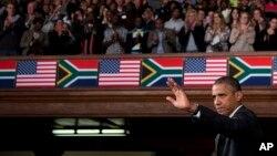 Tổng thống Obama đọc diễn văn tại Đại học ở Cape Town, 30/6/13