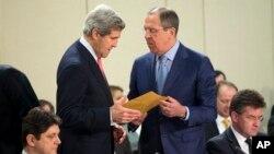 Джон Керри и Сергей Лавров. Брюссель, Бельгия. 23 апреля 2013 г.