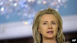 힐러리 클린턴 미 국무장관. (자료사진)