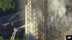 L'incendie à Londres a tué 79 personnes selon un dernier bilan, le 14 juin 2017.