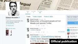 Edward Snowden ရဲ႕ Twitter စာမ်က္ႏွာ