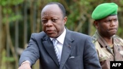 Le général Jean-Marie Michel Mokoko à Bangui, le 7 mai 2014.