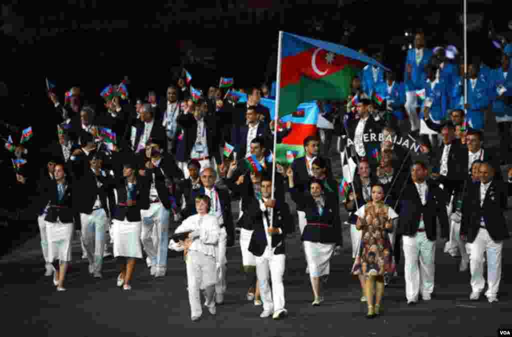 Azərbaycan komandası Olimpiya oyunlarının açılışında