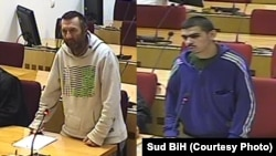 Bosnia and Herzegovina, combo photo of Emir Ališić (left) and Hamza Labidi (right), suspect for joining terrorist group in Syria in Court of Bosnia and Herzegovina, december 2019.