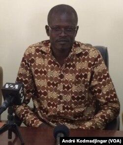 Allaraketté Sanéngar, président du syndicat des magistrats du Tchad, N'Djamena, le 22 octobre 2017 (VOA/André Kodmadjingar)