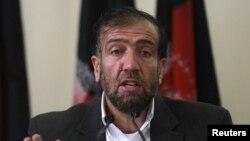 31일 기자회견 중인 파젤 아흐마드 마나위 아프간 독립선거위 위원장.
