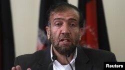 31일 기자회견 중인 파젤 아마드 아프간 독립선거위원회 위원장.