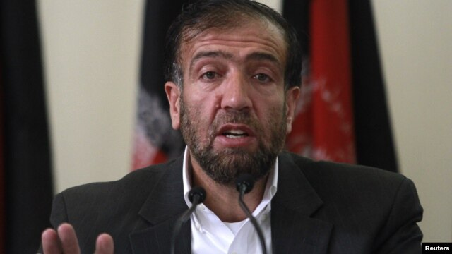 Fazel Ahmad Manawi, chairman of the Afghan Independent Election Commission, speaks during a news conference in Kabul, Afghanistan, October 31, 2012.