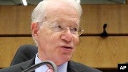 국제원자력기구, IAEA 이사회가 오스트리아 빈에서 열리는 가운데, 지난 2일 조지프 맥매너스 IAEA 주재 미국 대사가 발언하고 있다.
