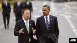 Пан Ги Мун и Барак Обама