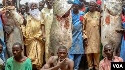 Abubakar Ya'u, (tsakiya) mutumin da ya lashe gasar kamun kifi ta Argungu (Hoto: Gwamnatin jihar Kebbi - Facebook)