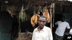 An herbalist selling medicinal plants in Shinyanga, Tanzania.