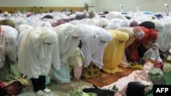 Molitva Indonežana u Getesburgu u državi Merilend povodom obeležavanja Ramazanskog bajrama, 30. avgust 2011.