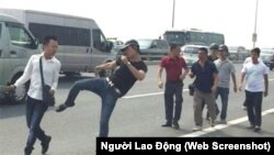 Một phóng viên bị tấn công ở Hà Nội. (Ảnh minh họa)