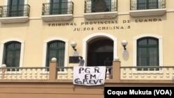 Greve na Procuradoria-Geral da República, Luanda, Angola