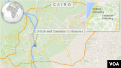 Canadian and British Embassies, Cairo