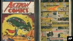 Bìa trước và sau của quyển 'Action Comics No.1' ấn hành năm 1938