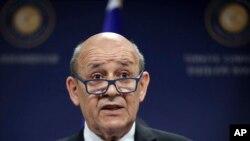Fransa Dışişleri Bakanı Jean-Yves Le Drian.