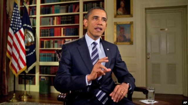 President Barack Obama tapes the weekly address, February 3, 2012